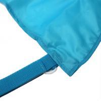 Сумка-сетка на коляску боковая голубая
