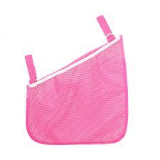 Сумка-сетка на коляску боковая розовая