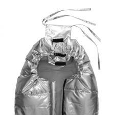 Конверт в коляску МиМиМи «Серебро» завязки