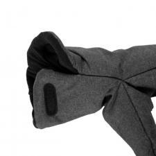 Муфты-варежки МиМиМи «Серый бархат» липучка