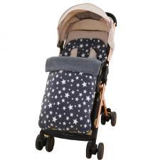 Детский конверт в коляску Happy Mom серый со звездами