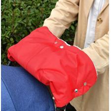 Муфта для рук на коляску красная