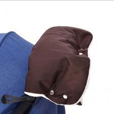 Муфта для рук на коляску коричневая