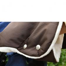Муфта на коляску коричневая