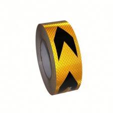 Лента светоотражающая самоклеящаяся желто-черная