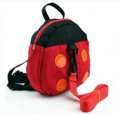 Рюкзак детский с поводком красный