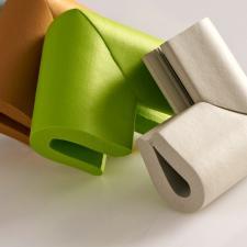 Защитные уголки для мебели 4 шт бежевые П-профиль