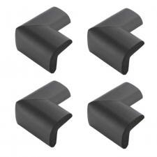 Защитные уголки для мебели 4 шт черные Г-профиль