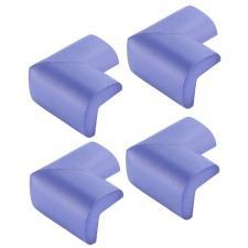 Защитные уголки для мебели 4 шт фиолетовые Г-профиль