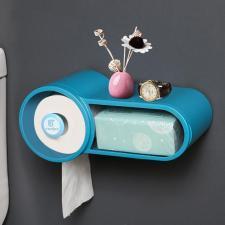 Диспенсер туалетной бумаги и влажных салфеток синий