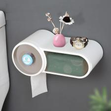 Диспенсер туалетной бумаги и влажных салфеток белый