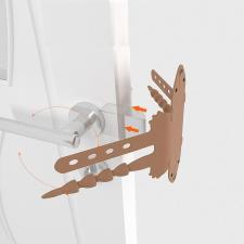 Детский замок на дверь коричневый