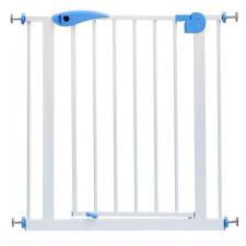 Ворота безопасности для детей с синим замком 75-85 см