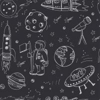 """Плед в коляску """"Космос"""", Пупс Земли"""