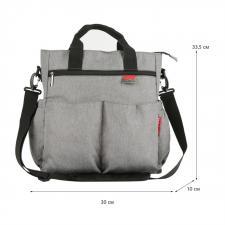 """Многофункциональная сумка для мам """"Серая"""""""