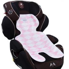 Дышащий матрасик в автокресло розовый