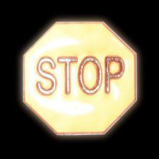 "Светоотражающая наклейка ""Стоп"" 4,8 х 4,8см, 4шт"