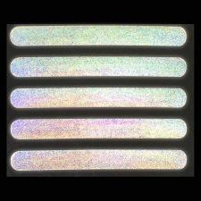 Светоотражающая термонаклейка «Полосы», 10 × 1 см, 5 шт