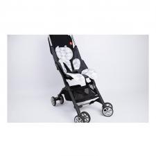 Дышащий матрасик для новорожденных в коляску серый