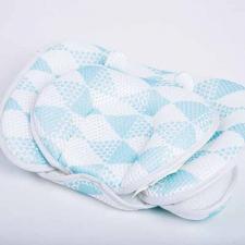 Дышащий матрасик для новорожденных голубой