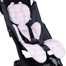 Дышащий матрасик для новорожденных розовый
